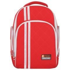 Рюкзак TIGER FAMILY (ТАЙГЕР) для средней школы, универсальный, красный, 39х31х22 см, 19 л