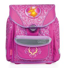 """Ранец жесткокаркасный TIGER FAMILY (ТАЙГЕР), 20 литров, для учениц начальной школы, розовый, """"Олень"""", 38х35х24 см"""
