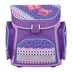 """Ранец жесткокаркасный TIGER FAMILY (ТАЙГЕР), 17 литров, для учениц начальной школы, фиолетовый, """"Кружево"""", 37х34х21 см"""