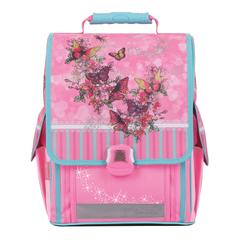 """Ранец жесткокаркасный TIGER FAMILY (ТАЙГЕР), 14 литров, для учениц начальной школы, розовый, """"Весна"""", 36х32х19 см"""