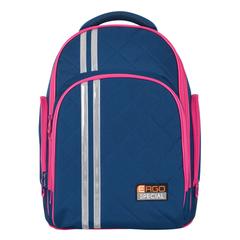 Рюкзак TIGER FAMILY (ТАЙГЕР), 19 л, с ортопедической спинкой, для средней школы, универсальный, синий/малиновый, 39х31х22 см