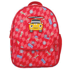 "Рюкзак TIGER FAMILY (ТАЙГЕР), 4 литра, для дошкольников, красный, ""Машинка"", 29х24х10 см"