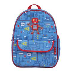 """Рюкзак TIGER FAMILY (ТАЙГЕР), 4 литра, для дошкольников, голубой, """"Робот"""", 29х24х10 см"""