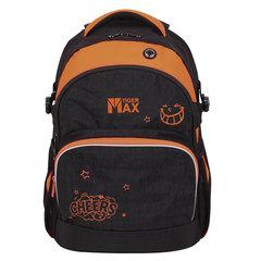 Рюкзак TIGER FAMILY (ТАЙГЕР) Дискавери, черный/оранжевый, 23 л, 45х33х22 см