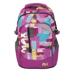 Рюкзак TIGER FAMILY (ТАЙГЕР) Гранж, фиолетовый, 22 л, 43х32х22 см