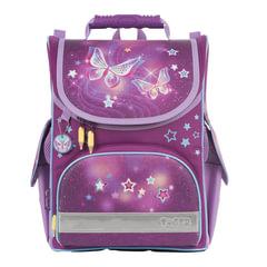 """Ранец жесткокаркасный TIGER FAMILY (ТАЙГЕР) для учениц начальной школы, """"Starry Butterflies"""", 35х31х19 см, 13 литров"""
