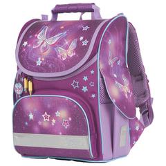 """Ранец TIGER FAMILY (ТАЙГЕР), для начальной школы, """"Nature Quest"""", девочка, """"Звездные бабочки"""", 35х31х19 см"""