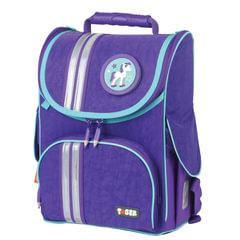 "Ранец жесткокаркасный TIGER FAMILY (ТАЙГЕР), для начальной школы, девочка, ""Minty Purple"", 35х31х19 см"