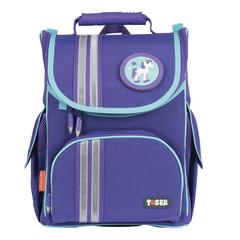 "Ранец жесткокаркасный TIGER FAMILY (ТАЙГЕР) для учениц начальной школы, ""Minty Purple"", 35х31х19 см"