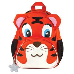 """Рюкзак TIGER FAMILY (ТАЙГЕР) для дошкольников, оранжевый, """"Tom The Tiger"""", 26х21х13 см, 5 литров"""