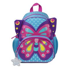"""Рюкзак TIGER FAMILY (ТАЙГЕР) для дошкольников, голубой, """"Sophie The Butterfly"""", 26х21х13 см, 5 литров"""