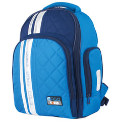 Рюкзак TIGER FAMILY (ТАЙГЕР), с ортопедической спинкой для средней школы, голубой/синий, 39х31х20 см