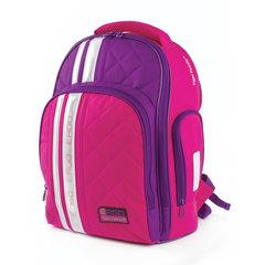 Рюкзак TIGER FAMILY (ТАЙГЕР), с ортопедической спинкой для средней школы, розовый/фиолетовый, 39х31х20 см