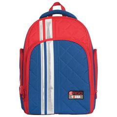 Рюкзак TIGER FAMILY (ТАЙГЕР) с ортопедической спинкой для учеников средней школы, синий/красный, 39х31х22 см