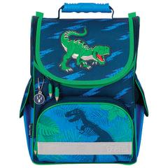 """Ранец жесткокаркасный TIGER FAMILY (ТАЙГЕР) для учеников начальной школы, """"Dino Action"""", 35х31х19 см"""