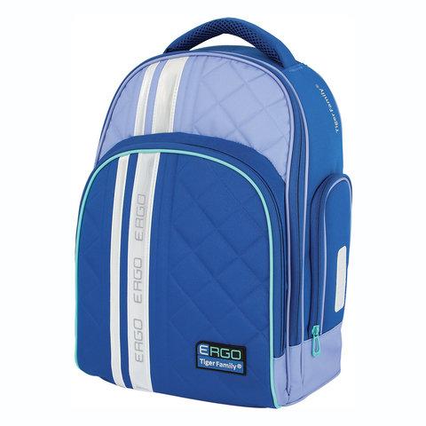 5a81f0ee80d2 Рюкзак TIGER FAMILY (ТАЙГЕР) с ортопедической спинкой для средней школы,  синий/голубой, 39х31х20 см