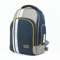 Рюкзак TIGER FAMILY (ТАЙГЕР) с ортопедической спинкой для учеников средней школы, черный/серый, 39х31х20 см