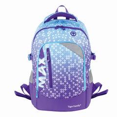 Рюкзак TIGER FAMILY (ТАЙГЕР) с ортопедической спинкой, молодежный, фиолетовый, 43х33х23 см