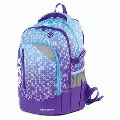 Рюкзак TIGER FAMILY (ТАЙГЕР), с ортопедической спинкой, молодежный, фиолетовый, 43х33х23 см