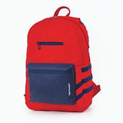 Рюкзак TIGER FAMILY (ТАЙГЕР), молодежный, сити-формат, красный, 45х29х14 см