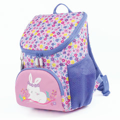 Рюкзак TIGER FAMILY (ТАЙГЕР) для дошкольниц, розовый, Маленький зайка, 31х24х16 см